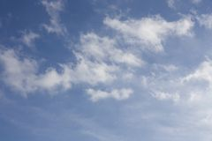 Witte Wolken Royalty-vrije Stock Fotografie
