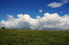 Witte wolken! Stock Afbeelding