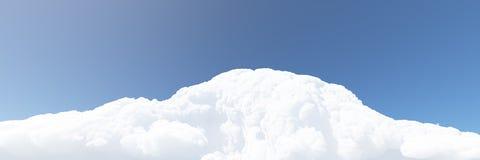Witte wolken en blauwe hemel 3d geef terug Stock Afbeeldingen