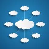 Witte wolken op blauwe hemelachtergrond Royalty-vrije Stock Foto