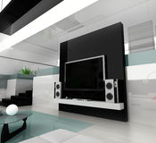 Witte woonkamer Royalty-vrije Stock Afbeeldingen
