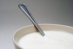 Witte yoghurt Stock Foto