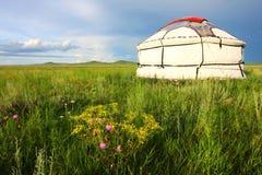 Witte yurt Royalty-vrije Stock Afbeelding