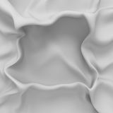 Witte zachte de stoffenachtergrond van de zijdedoek Royalty-vrije Stock Afbeelding
