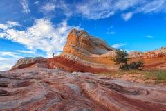 Witte Zak, het Nationale Monument van Vermiljoenenklippen, Arizona, de V.S. Royalty-vrije Stock Afbeelding