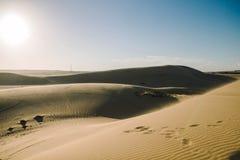 Witte zandduinen in Muine, Vietnam Stock Afbeelding