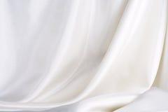 Witte zijde Stock Foto