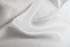 Witte zijde Stock Foto's