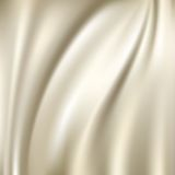 Witte zijdeachtergronden Stock Afbeeldingen