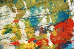Witte zilveren groene oranje blauwe rode slagen als achtergrond en de borstel van pastelkleur wasachtige vlekken, tinten, vlekken stock foto
