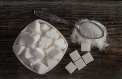 Witte zoete suikerkubussen Stock Afbeelding