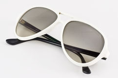 Witte zonnebril Royalty-vrije Stock Foto