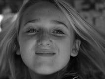 witte zwarte emoties Stock Fotografie