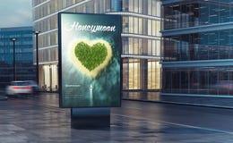 wittebroodswekenaanplakbord op de straat Royalty-vrije Stock Foto