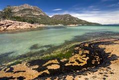 Wittebroodswekenbaai, het Nationale Park van Freycinet, Tasmanige, Australië Stock Afbeeldingen