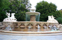 Wittelsbach Fountain on Maximiliansplatz, Munich Royalty Free Stock Photography