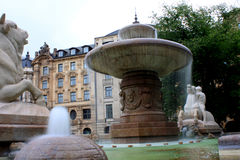 Wittelsbach Fountain on Maximiliansplatz, Munich, Germany Royalty Free Stock Images