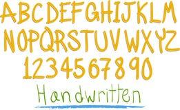witten den roliga handen för alfabetet Arkivfoton