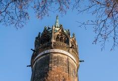 Wittenberg - flèche très haute où Martin Luther a cloué les quatre-vingt-quinze thèses Image libre de droits