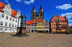 Wittenberg Marktplatz Lizenzfreie Stockfotos