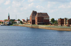 Wittenberge Hafen II Lizenzfreies Stockfoto
