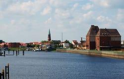 Wittenberge hamn III royaltyfria bilder