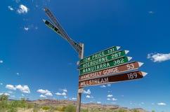 Wittenoom, Pilbara, Australie occidentale - une ville célèbre pour être dû inhabitable à l'amiante bleu mortel photos libres de droits