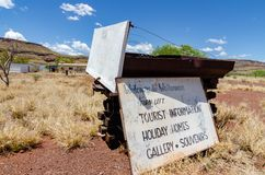 Wittenoom, Pilbara, Western Australia - a town famous for being uninhabitable due to deadly blue asbestos. Wittenoom, Pilbara, Western Australia - the deserted stock photos