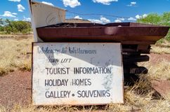 Wittenoom, Pilbara, Western Australia - a town famous for being uninhabitable due to deadly blue asbestos. Wittenoom, Pilbara, Western Australia - the deserted stock photo