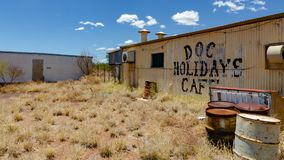 Wittenoom, Pilbara, Western Australia - a town famous for being uninhabitable due to deadly blue asbestos. Wittenoom, Pilbara, Western Australia - the deserted stock image