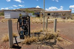 Wittenoom, Pilbara, Western Australia - a town famous for being uninhabitable due to deadly blue asbestos. Wittenoom, Pilbara, Western Australia - the deserted stock images