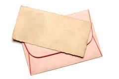 Ретро конверт witth письма Стоковая Фотография RF