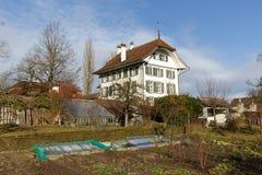 Wittigkofen宫殿在伯尔尼,瑞士 免版税库存照片