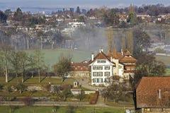 Wittigkofen宫殿的鸟瞰图 库存照片