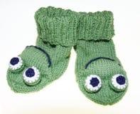Witty baby, children frog socks, socks, knitted. Witty baby, children frog style socks, socks, knitted Royalty Free Stock Image