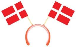 Witty headdress flags Denmark Royalty Free Stock Photos