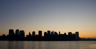 świtu niska Manhattan linia horyzontu Fotografia Stock