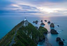 Świtu widok latarnia morska obraz stock