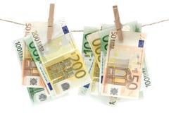 Witwassen van geld Stock Foto's