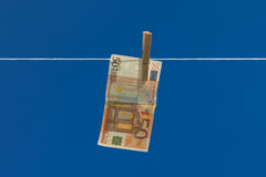 Witwassen van geld. Stock Afbeeldingen