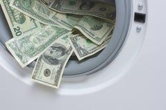 Witwassen van geld. Het schoonmaken van het geld concept Royalty-vrije Stock Afbeeldingen