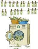 Witwassen van geld Stock Foto