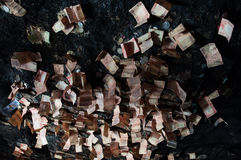 Święty jama sufit zakrywający banknotami Fotografia Stock