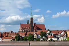Święty maryja dziewica kościół w Wrocławskim - Polska Obraz Stock