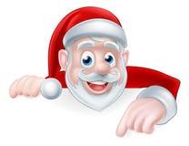 Święty Mikołaj Wskazywać Zdjęcia Stock