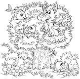 Witzbaum mit Tieren Lizenzfreie Stockfotos