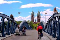 wiwilÃ-Brà ¼ cke w Freiburg, Deutschland Obraz Stock