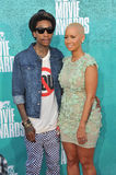 Wiz Khalifa & Amber Rose Stock Photo