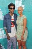 Wiz Khalifa & Amber Rose Stock Photo