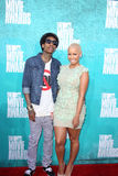 Wiz Khalifa; Amber Rose arriving at the 2012 MTV Movie Awards Royalty Free Stock Photography